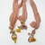 Boho Gypsy Silk Sari Ribbon Bookmark Sunrise Amber Orange with Angel | Book