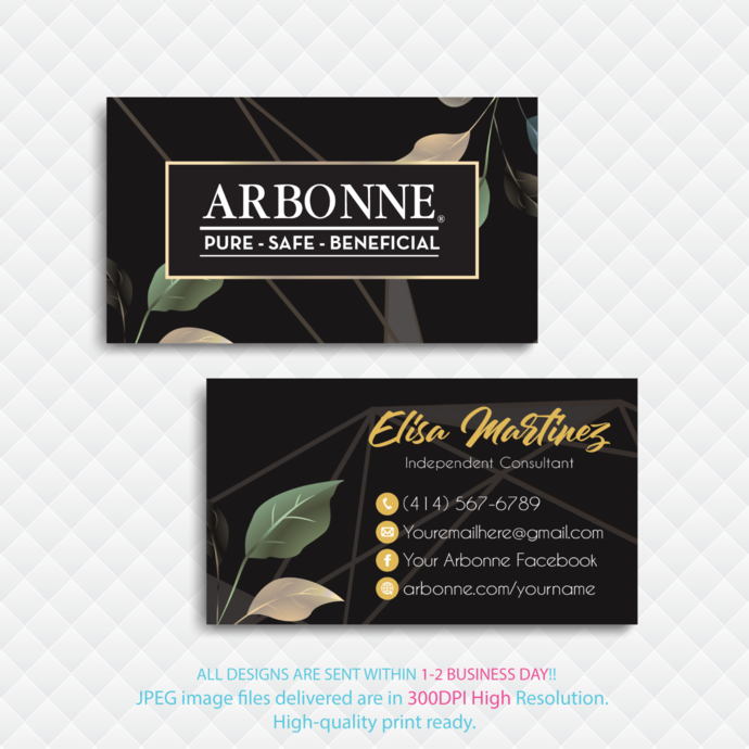 Arbonne Digital file card, Arbonne Business Card, Arbonne Consultant,