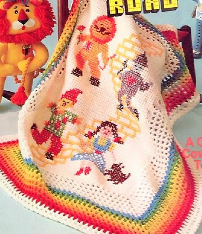 Instant PDF Digital Download Vintage Crochet Pattern The Wizard of OZ Yellow