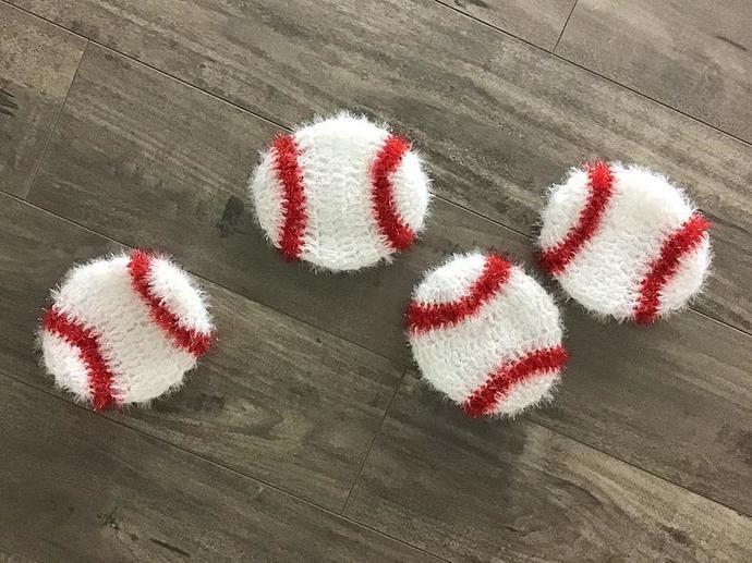 Baseball Dish Scrubber