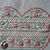 Heart With A Silver Heart Charm Cross Stitch - Completed And Unframed - FREE