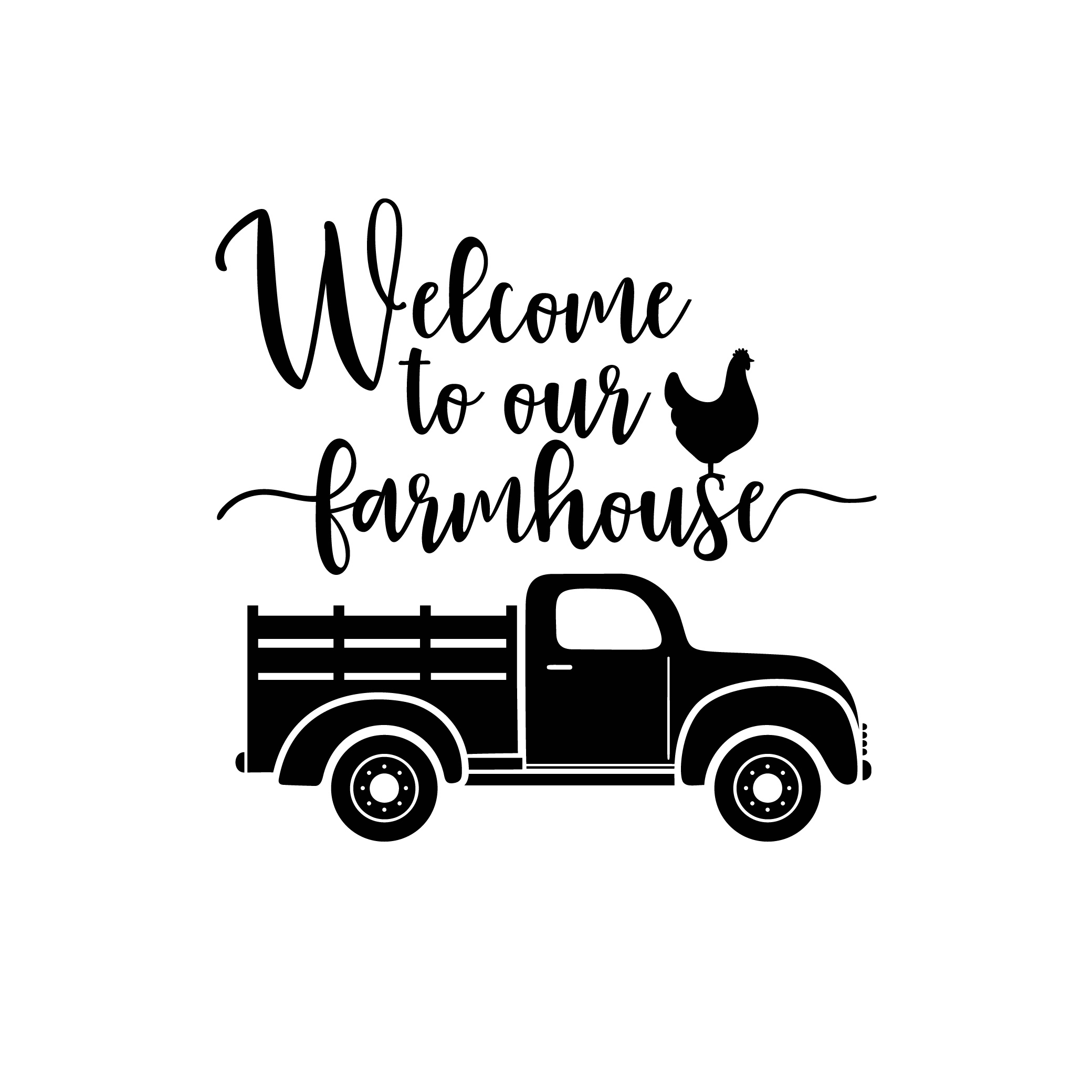 Welcome To Our Farmhouse Graphics Svg Dxf Eps By Vectordesign On
