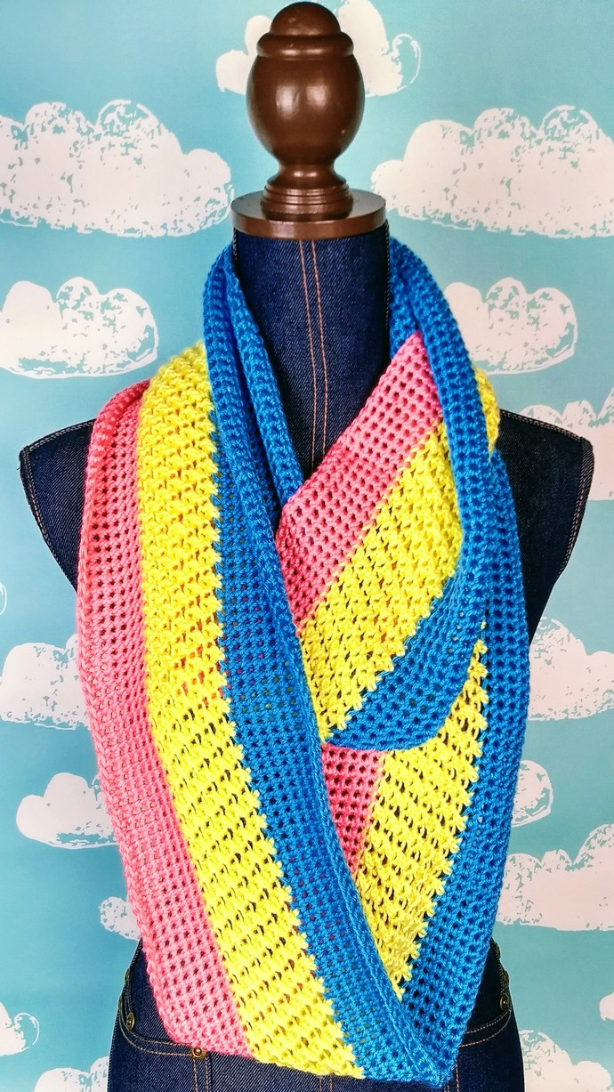 Pansexual Pride Infinity Scarf