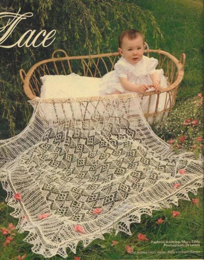 Instant PDF Digital Download Vintage Knitting Pattern Baby Babies Baby's Lace 2