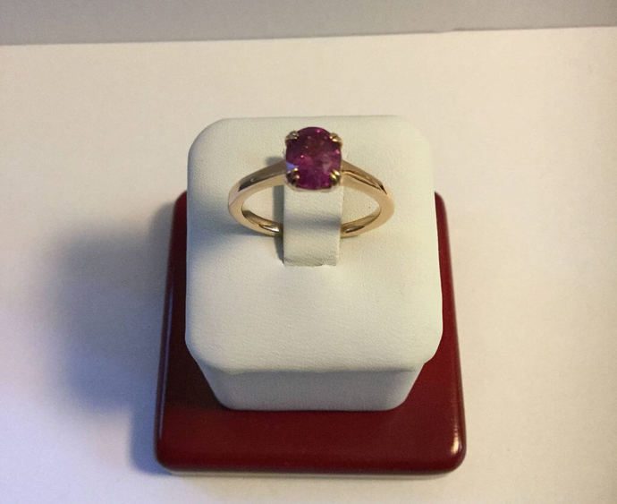 Unheated untreated top quality Ruby Ring Gold ruby ring Women Wedding ruby Ring