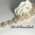 Jewelry Gold and Pearl Handmade Bracelet with Crystals