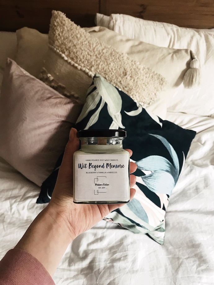Wit Beyond Measure - Hogwarts Inspired - 8oz Candle - Scented Soy Candle - Book