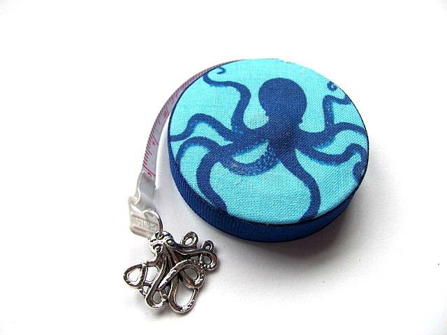Tape Measure Blue Octopus Retractable Measuring Tape