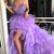 Spaghetti Straps High-Low Tulle A-Line Applique Prom Dresses S3698