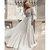 Long Sleeve Chiffon Backless A-Line Beaded Prom Dresses H3652