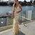 Gold Sequin Mermaid Backless V-Neck Prom Dresses G6950