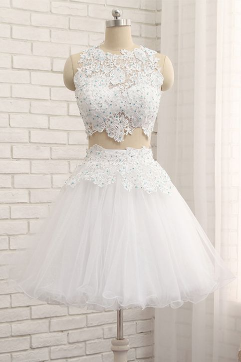 Newest O-Neck A-Line Appliques Homecoming Dresses,Short Prom Dresses,Cheap