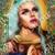 """Aja - RuPaul's Drag Race  - 8"""" Celebrity Saint Candle Church Window frame"""