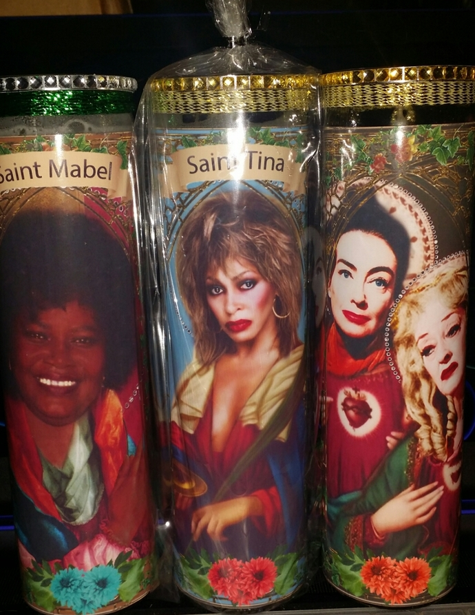"Tina Turner  - 8"" Celebrity Saint Candle Church Window frame"