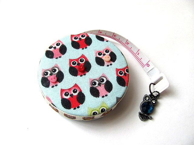 Measuring Tape Tiny Owls Retractable Tape Measure