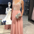 A line Blush Prom Dress,Beaded Straps Evening Party Dress R0987