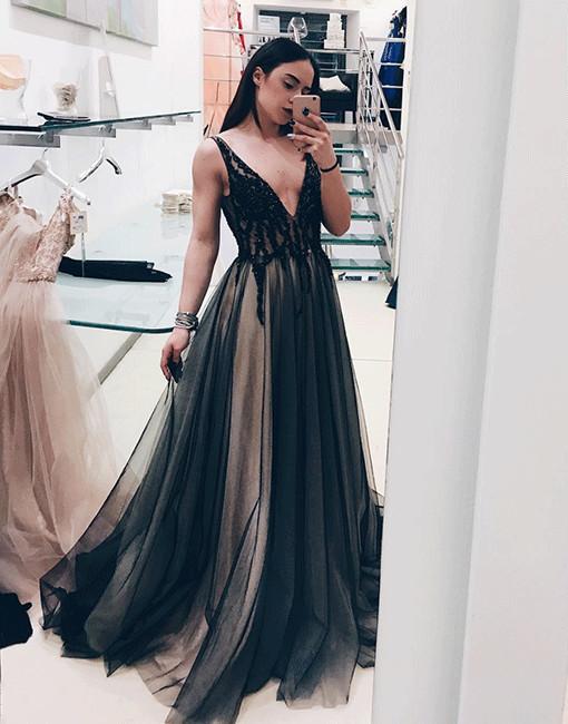 V Neck Long Prom Dress,Prom Dresses,Evening Gown,Floor Length Long Prom Dresses