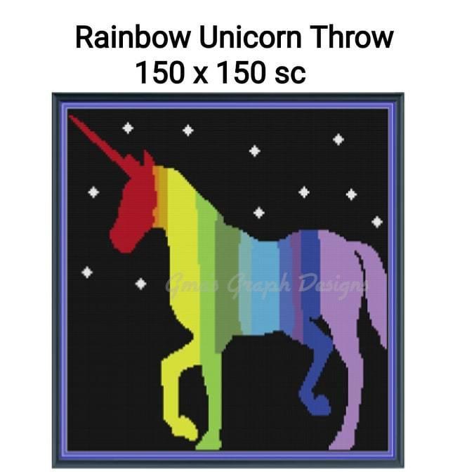 Rainbow Unicorn Throw
