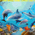 Dolphin Cave Cross Stitch Pattern***LOOK*** ***INSTANT DOWNLOAD***