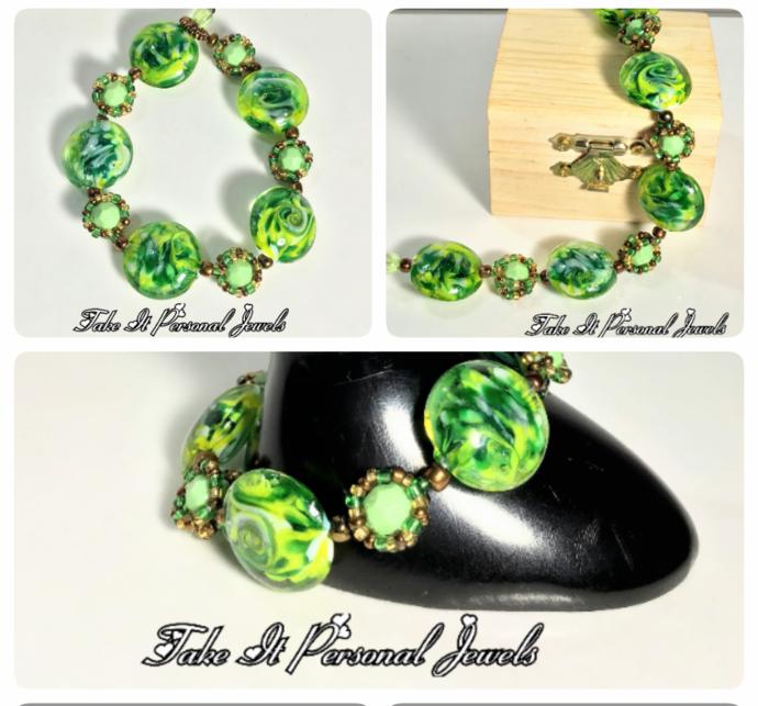 Jewelry Green Spring Handmade Bracelet