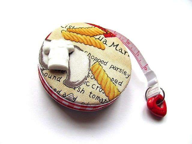 Tape Measure Italy and Pasta Retractable Measuring Tape