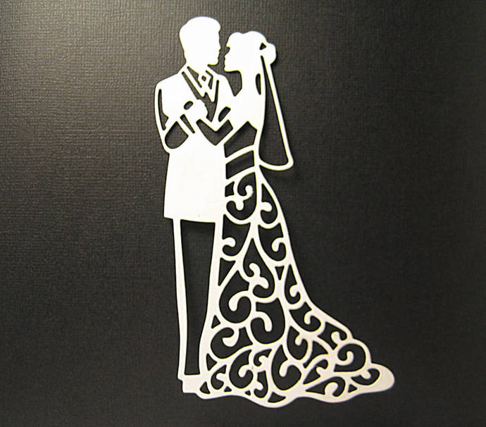 Wedding Couple Cutting Die Style #1 Groom Bride