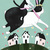 Spring Rabbit and Cat Original Cat Folk Art Painting