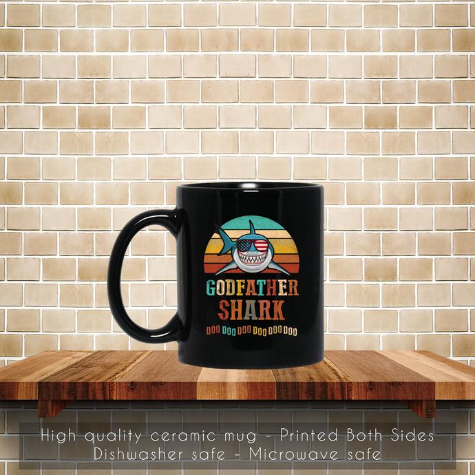 Godfather Shark Doo Doo Doo Coffee Mug, Tea Mug, Coffee Mug, Godfather Shark,
