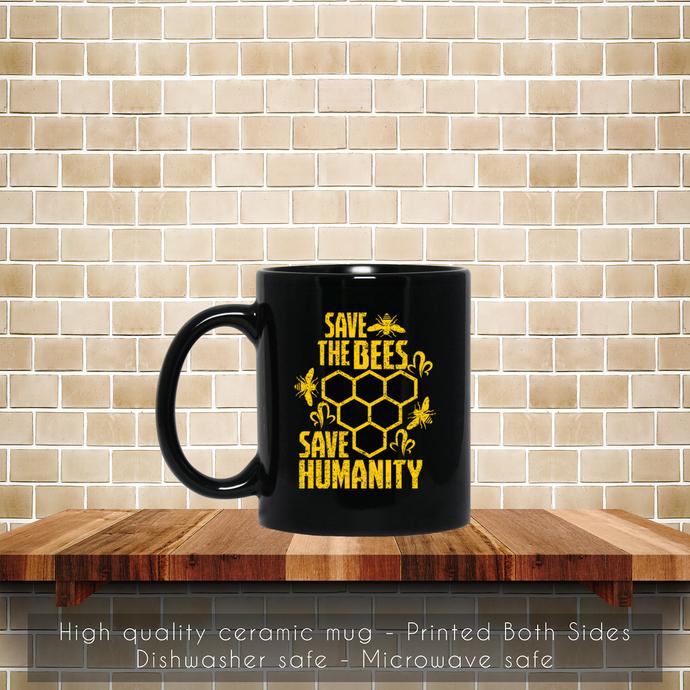 Save The Bee, Insect, Animal Lovers Coffee Mug, Tea Mug, Bee Mug, Coffee Mug,