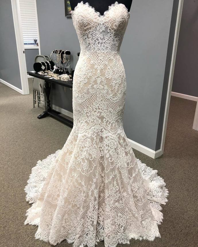 Mermaid High Qaulity French Lace Wedding Dress