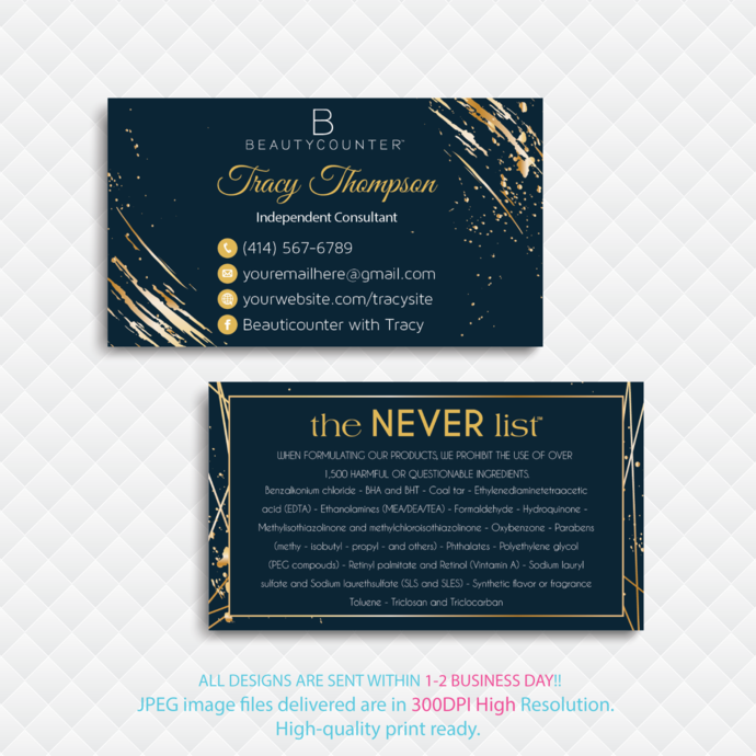 Personalized Beautycounter Business Card, Beautycounter Business Card, Business