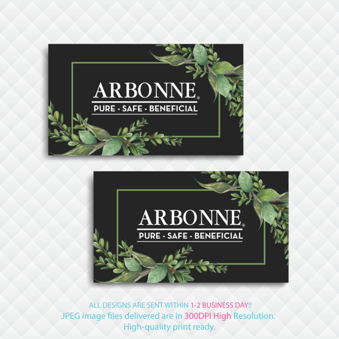 Arbonne Digital file card, Arbonne Business Card, Personalized Arbonne Business