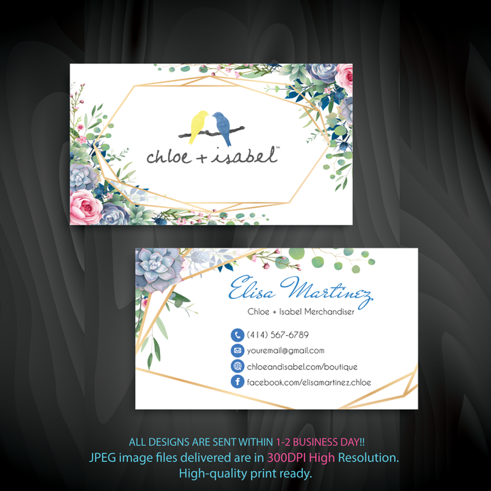Custom Chloe + Isabel Business Card, Personalized Chloe + Isabel Business Cards,
