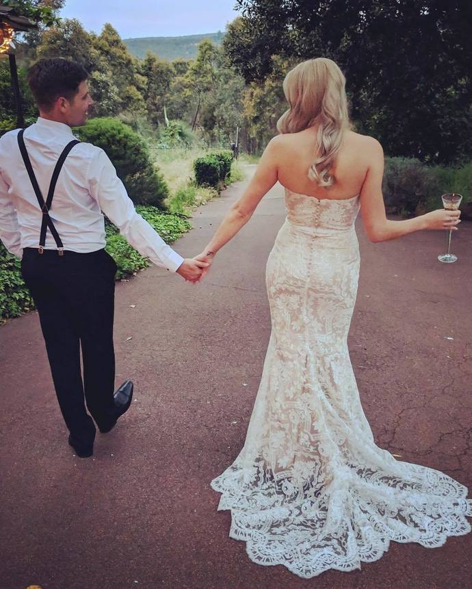Sweetheart neck Lace Appliques Mermaid Wedding Dress, Sexy Bridal Gowns