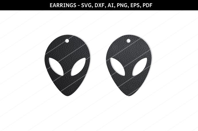 Alien Earrings svg,UFO earrings,Sci fi earrings,alien jewelry,Cosmic