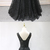 Black Lace V Neck Beaded Long Formal Prom Dress, Black Evening Dress BD2489