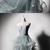 Light Green Tulle Long Lace Top Ruffles Evening Dress, Sweet 16 Prom Dress