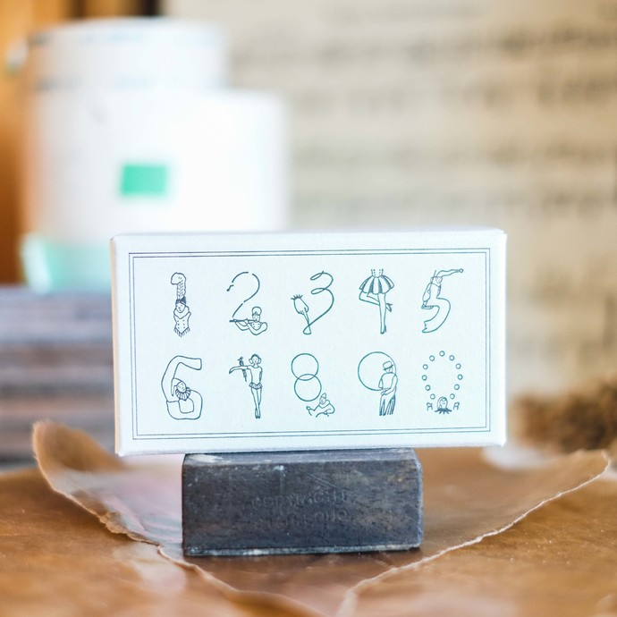 Rakui Hana Number Rubber Stamps of the Circus - perfect for journaling & happy