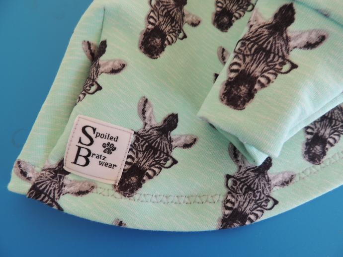 MEDIUM Nerdy Zebras European Cotton French Terry Shirt