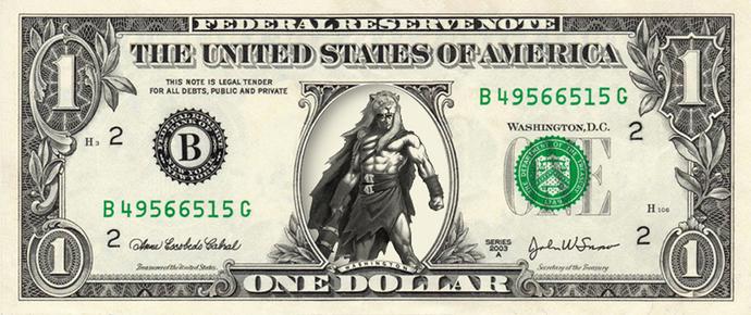 HERCULES on a REAL Dollar Bill Cash Money Memorabilia Novelty Collectible