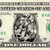 LONG JOHN SILVER on a REAL Dollar Bill Cash Money Memorabilia Novelty