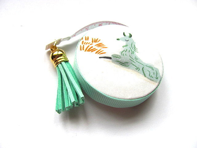 Tape Measure Green Alpacas Retractable Measuring Tape