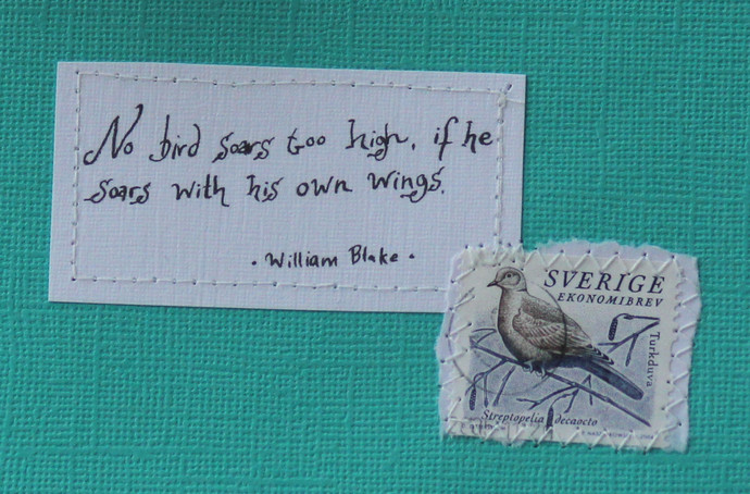 No bird soars too high, if he soars with his own wings - William Blake - Dark