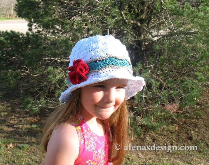 51f3d9a2414af1 Crochet Pattern 227 Rose Sun Hat Summer Beach Hat Women Girls Ladies Toddler