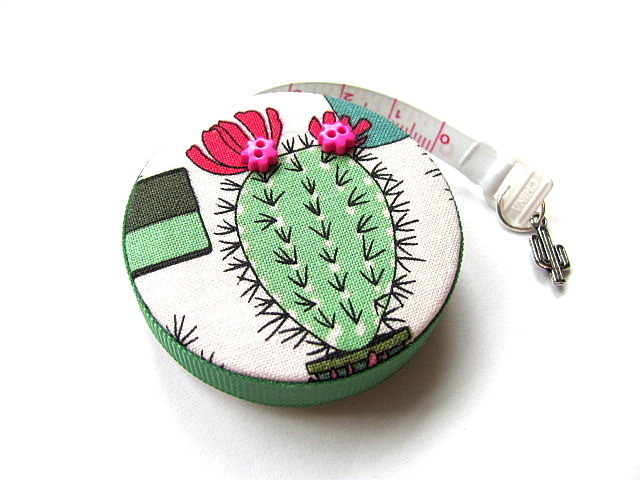 Tape Measure Flowering Cactus Retractable Measuring Tape