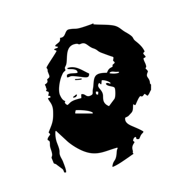 Bud Spencer v2 graphics design SVG DXF EPS Png Cdr Ai Pdf Vector Art Clipart