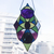 """""""Inner Knowledge"""" Stained Glass Talisman with Obsidian"""