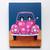 Pink Love Road Trip Cats Original Cat Folk Art Painting