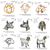 Goat set embroidery design, 9 embroidery designs, embroidery pattern N 866  ...