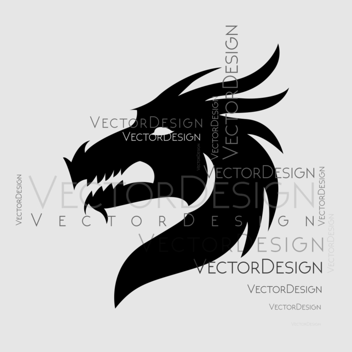 Dragon head Graphics SVG Dxf EPS Png Cdr Ai Pdf Vector Art Clipart instant